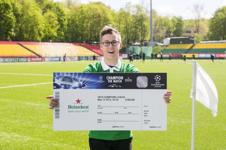 """""""Heineken"""" Čempionų lygos konkurso nugalėtojas Karolis Jankauskas / I.Gelūno nuotr."""