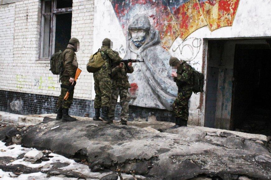Lietuvis instruktorius Pribaltas veda karinius mokymus Ukrainos kariams