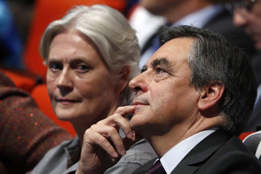 Penelope Fillon ir Francois Fillonas