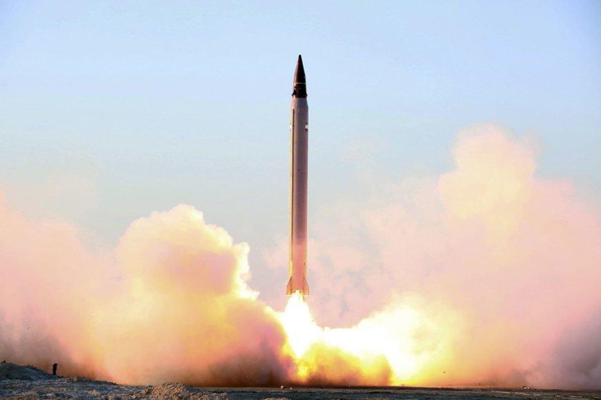 Irano balistinės raketos bandymas