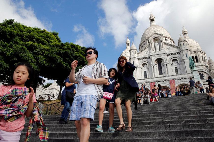 Turistai Prancūzijoje