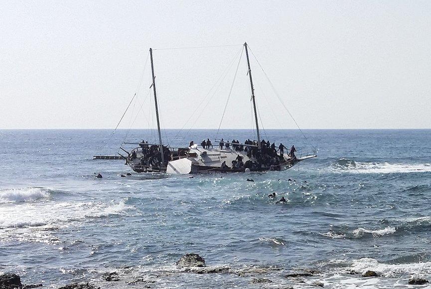 Migrantai prie Graikijos krantų