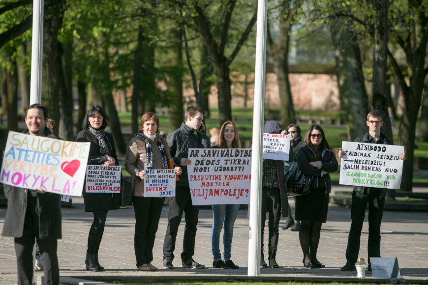 Protestas prie savivaldybės