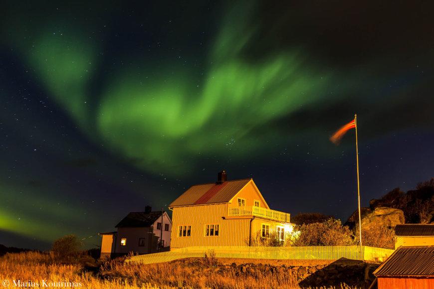 Šiaurės pašvaistė Lofoteno salose