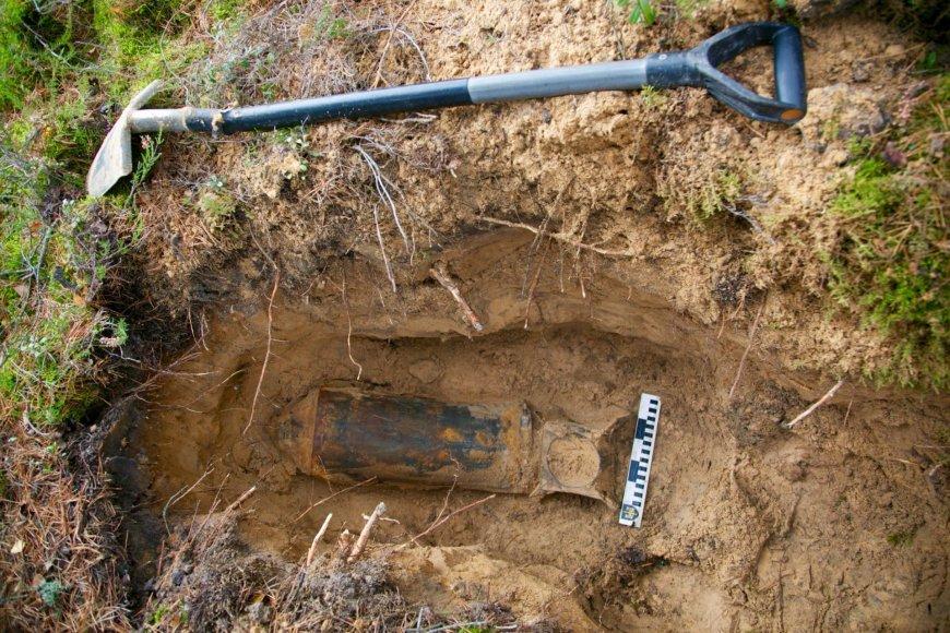 Rūdininkų poligone rasta aviacijos bomba