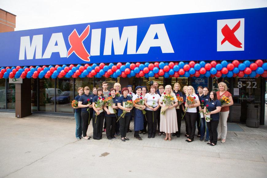 """Atnaujintos """"Maxima"""" parduotuvės atidarymas Visagine"""