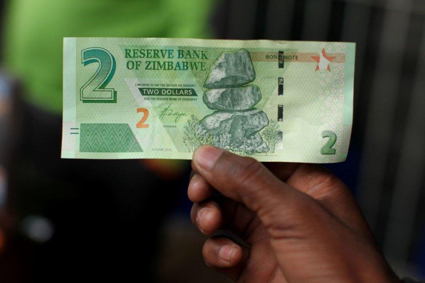 Zimbabvėje išleistas JAV dolerių ekvivalentas