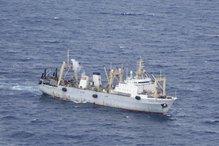 Rusijos žvejybinis laivas.
