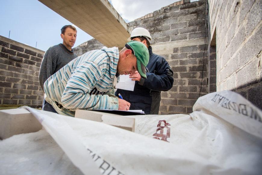 Darbos inspekcijos reidas į Vilniaus statybvietes