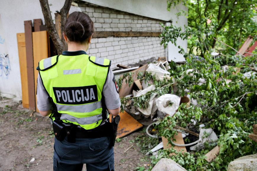 Liejyklos gatvėje tarp statybinių atliekų aptikti žmonių kaulai