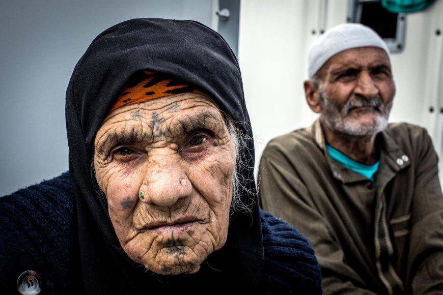 Seniausia Mytilini (Lesbo sala, Graikija) pabėgėlių stovyklos gyventoja – 103 m. sirė.