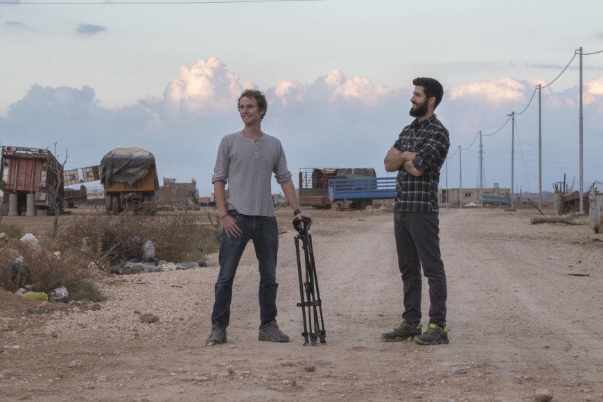 Chrisas Temple (kairėje) ir Zachas Ingrasci (dešinėje)