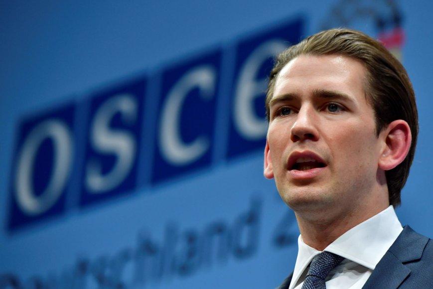 Naujasis ESBO pirmininkas Austrijos užsienio reikalų ministras Sebastianas Kurzas