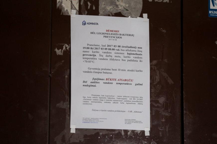 Žygimanto Gedvilos / 15min nuotr./Tuskulėnų g. name nuo legioneliozės mirė moteris