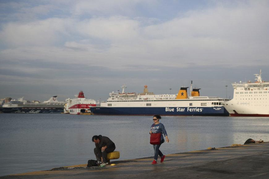 Graikijoje streikuoja jūreiviai