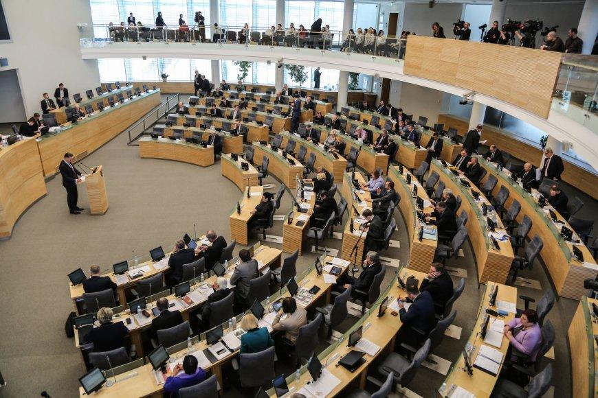 Vyriausybės metinės ataskaitos pristatymas Seime