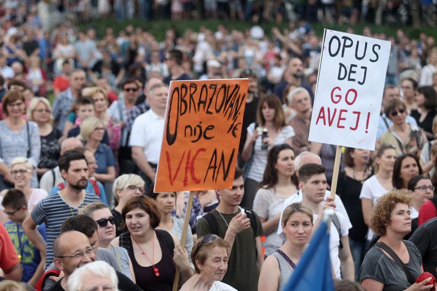 Protestas Kroatijoje