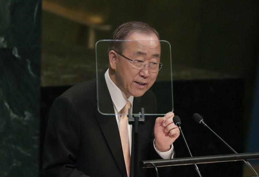 Jungtinių Tautų generalinis sekretorius Ban Ki-moonas