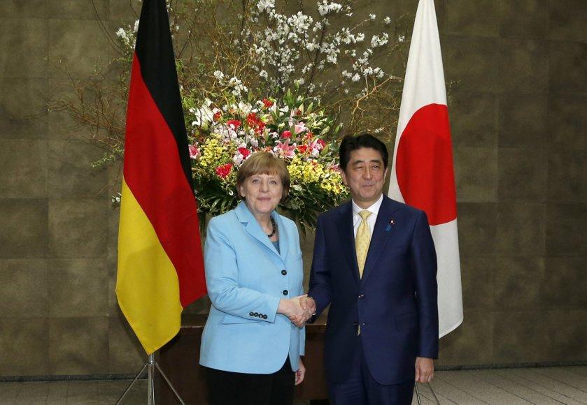 Vokietijos kanclerė vizito Japonijoje metu.