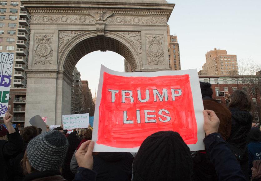 Protestas prieš D.Trumpo imigracijos politiką