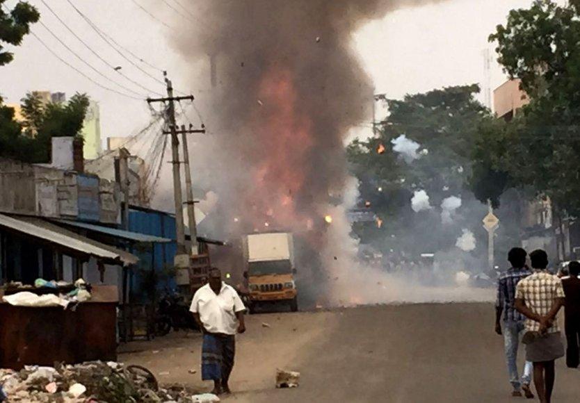Incidentas Indijos fejerverkų gamykloje