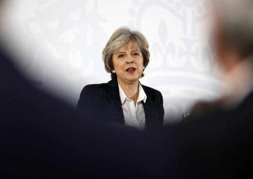 """""""Scanpix""""/AP nuotr./Theresa May pristato Brexit planą"""
