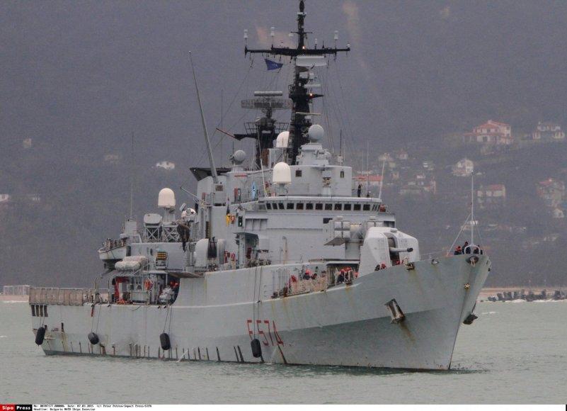 NATO karinis jūrų laivas Bulgarijoje.