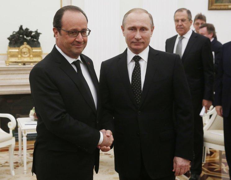 Prancūzijos ir Rusijos prezidentai Maskvoje