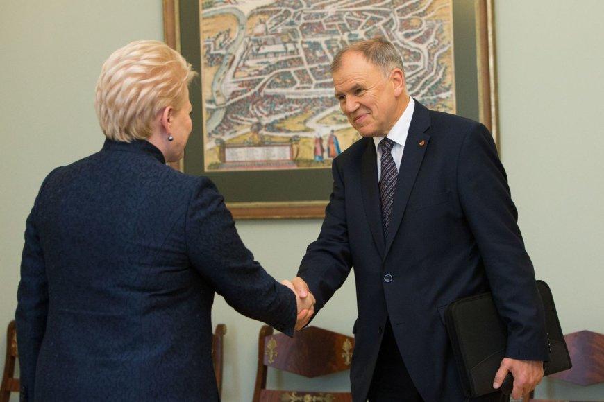 Prezidentė susitiko su Vyteniu Andriukaičiu