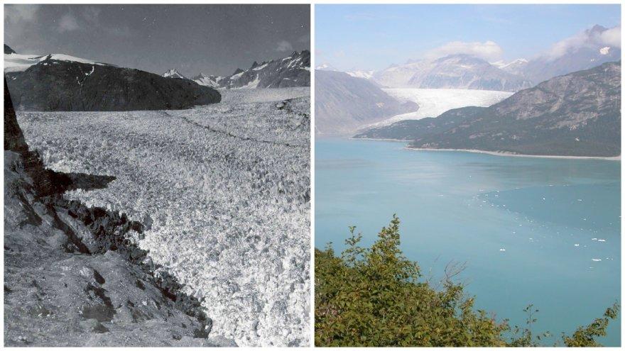 NASA išplatintose nuotraukose – ypač ryškūs klimato kaitos sukelti padariniai