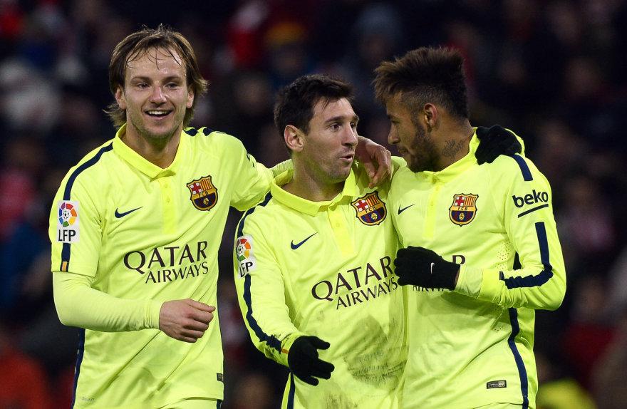 Ivanas Rakitičius, Lionelis Messi ir Neymaras