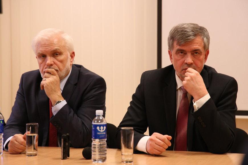 A.Mickevičiaus ir Jono Pauliaus II gimnazijų direktoriai Česlavas Davidovičius ir Adamas Blaškevičius