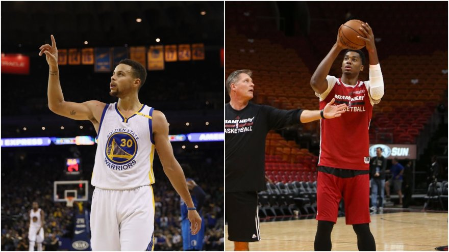 Stephenas Curry ir Hassanas Whiteside'as