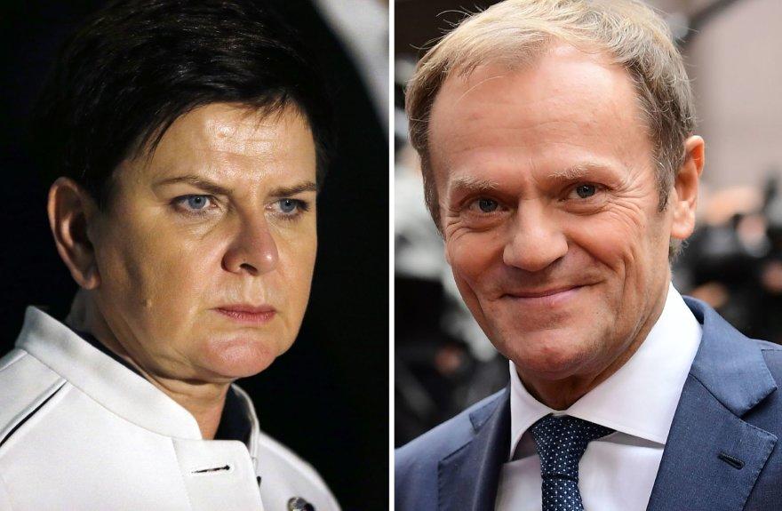 Beata Szydlo ir Donaldas Tuskas