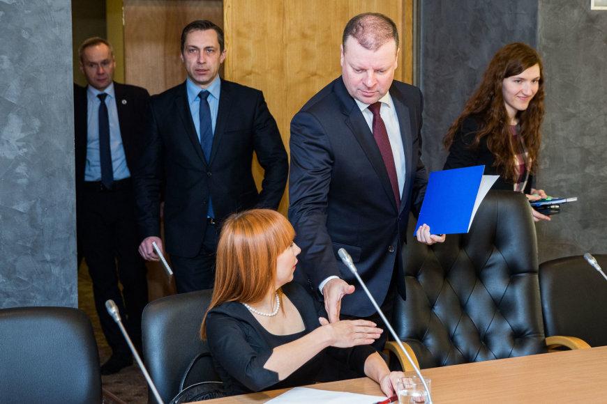 Jurgita Petrauskienė ir Saulius Skvernelis