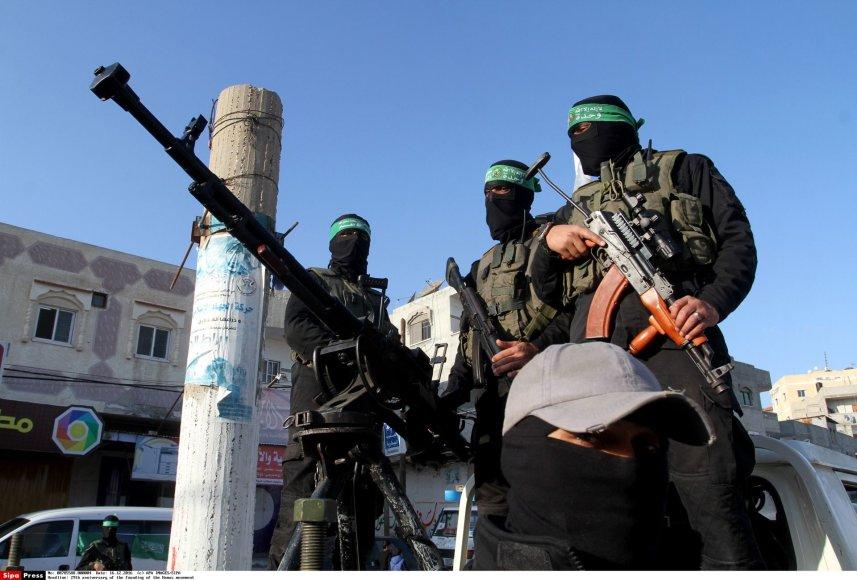 """""""Hamas"""" kovotojai Gazos Ruože"""
