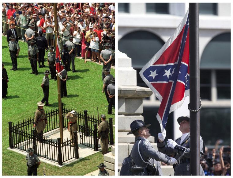 Pietų Karolinoje nuleista konfederatų vėliava