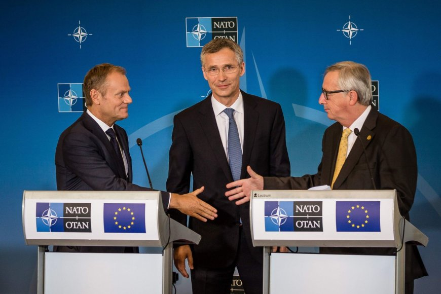 Donaldas Tuskas, Jensas Stoltenbergas ir Jeanas-Claude Junckeris