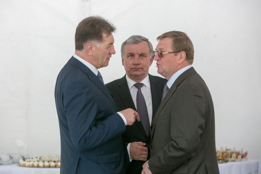 Iš kairės: Algirdas Butkevičius, Rimantas Sinkevičius, Stasys Dailydka