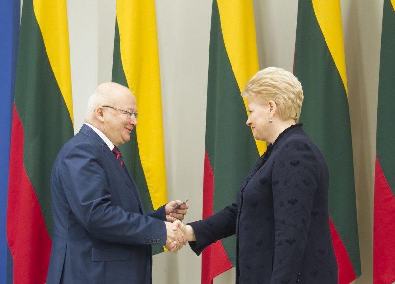 Zenonas Vaigauskas ir Dalia Grybauskaitė