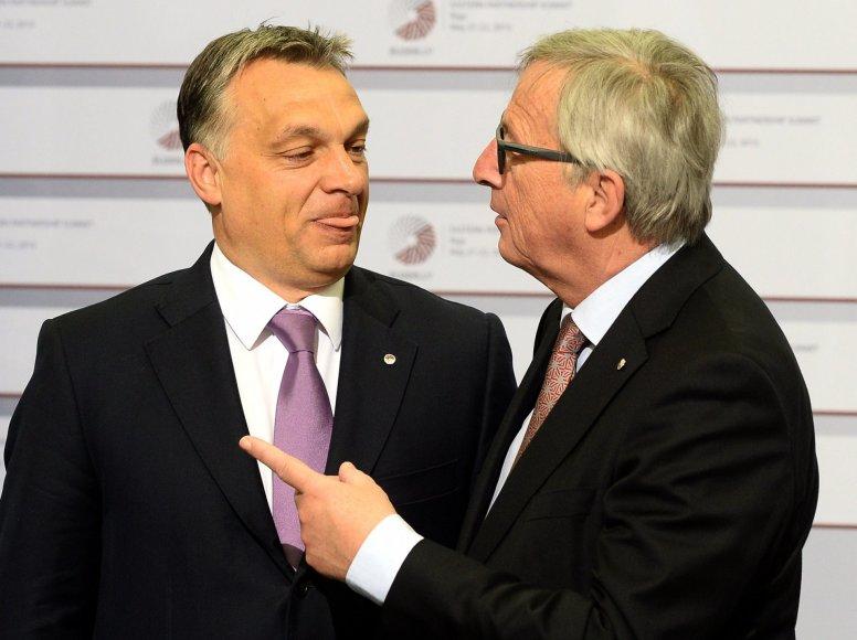 V.Orbanas ir J-C.Junckeris.