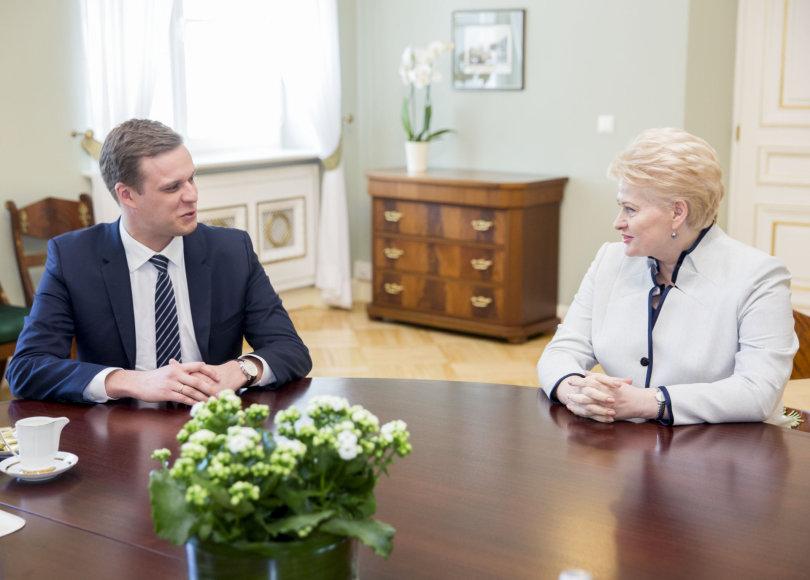 Dalia Grybauskaitė ir Gabrielius Landsbergis