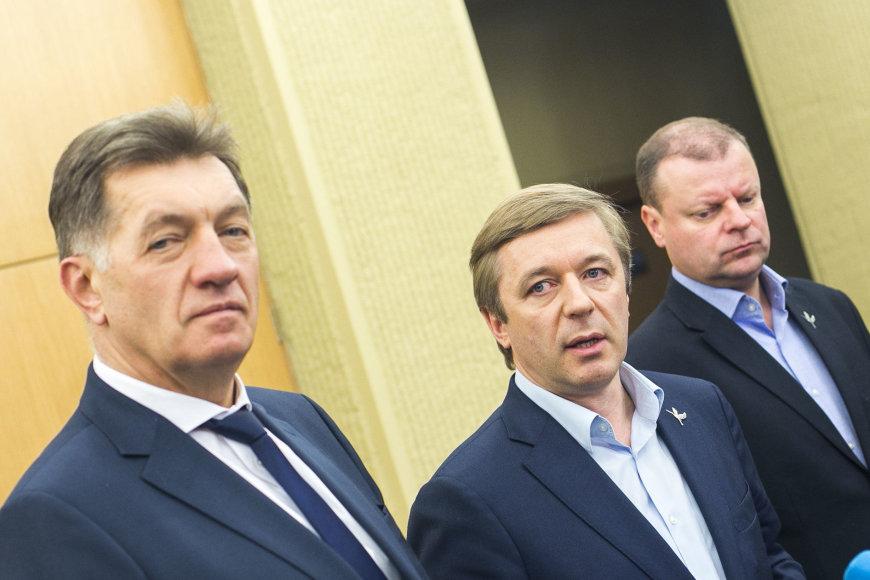 Algirdas Butkevičius, Ramūnas Karbauskis ir Saulius Skevernelis