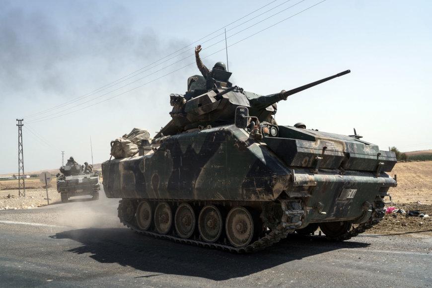 Turkijos tankai Sirijoje
