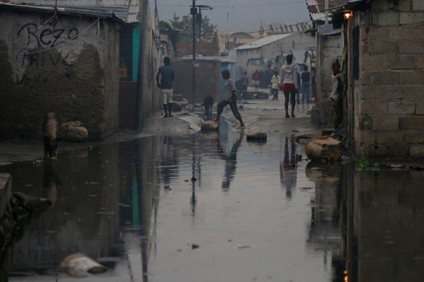 Galingo uragano Metju nusiaubti Haitis ir Kuba