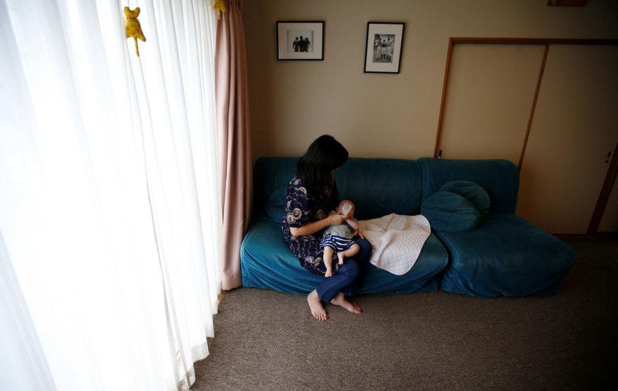 Motina su vaiku Japonijoje