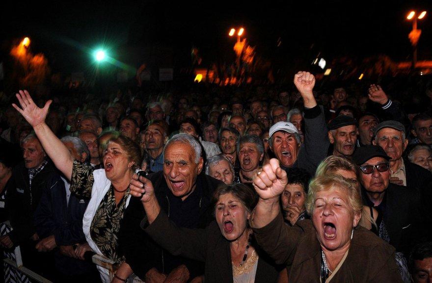 Opozicijos mitingas Jerevane