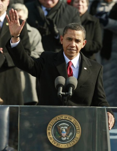 Barackas Obama ant pakylos
