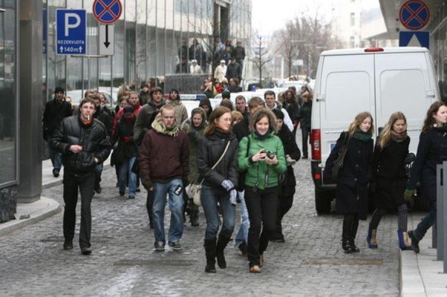 Protesto akcijos pabaiga