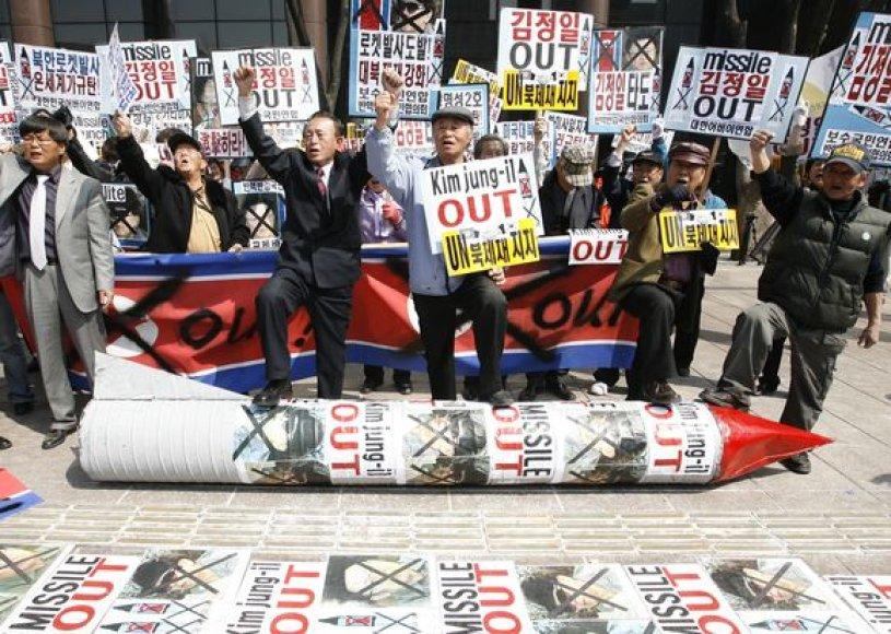 Protestas prieš Š.Korėją.